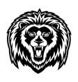 sign of a black lion vector image