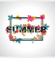 summer background with typography design with vector image vector image
