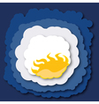 summer clouds vector image