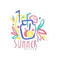 summer logo design label for summer holiday vector image vector image