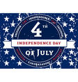 Symbol American holiday Independence Day vector image vector image