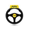 taxi car sign car wheell icon vector image vector image