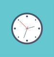 template clock in flat design clock in white and vector image vector image