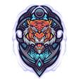 tiger head mascot logo design vector image