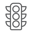 traffic light line icon regulation and traffic vector image