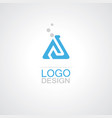 triangle bottlelab sience logo vector image