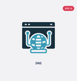 two color dns icon from web hosting concept vector image vector image