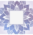 Watercolor violet frame with floral pattern vector image vector image