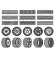 wheel tires car tire tread tracks motorcycle vector image vector image