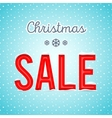 Creative Christmas sale poster with a blue vector image