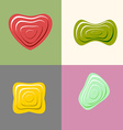 Set logos of plastic forms Heart icon logo logo vector image