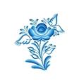 flower gzhel vector image