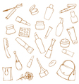 Set of cosmetics and toiletries vector image