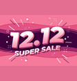 1212 shopping day super sale poster vector image vector image