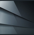 Abstract background with dark gray metal layers vector image