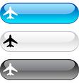 Aircraft button vector image