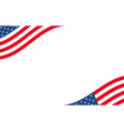 american banner usa border background with waving vector image vector image