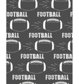 american football ball rocket seamless pattern vector image vector image