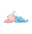 baboy sleeping cute happy newborn in vector image