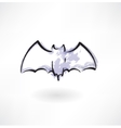 Bat grunge icon vector image
