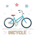 bike in cartoon style trendy style for graphic vector image