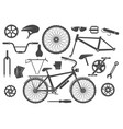 bike parts isolated vector image vector image