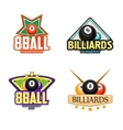 Billiards pool and snooker sport icons vector image vector image