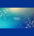 blue geometric polygonal background molecule and vector image vector image