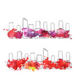 bottles of nail polish vector image vector image