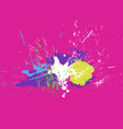 brigh paint spots on a pink background abstract vector image