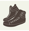 brown sneakers on beige background vector image vector image