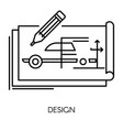 car technical design mechanical engineering vector image vector image