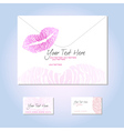 Card with lips vector image