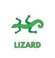 cartoon lizard flashcard for children vector image vector image