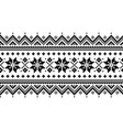 christmas long seamless winter pattern vector image vector image