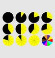 circular graph vector image