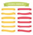 Colorful ribbons and banners set vector image vector image