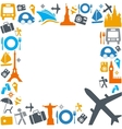 Colorful traveling and transportation icons vector | Price: 1 Credit (USD $1)