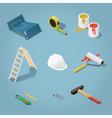 Constructor tools set vector image