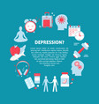depression treatment concept banner in flat style vector image vector image
