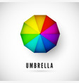 design ubmrella with rainbow colors view from vector image vector image