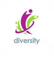 diversity logo vector image vector image