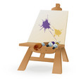 Easel vector image vector image