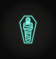 egyptian mummy icon in glowing neon style vector image vector image