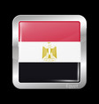 flag egypt glossy and metal icon square shape vector image vector image
