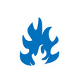 flame icon design template isolated vector image vector image