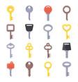 Flat different type keys