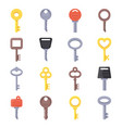 flat of different type of keys vector image vector image