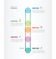 flat time line with five options vector image