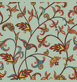floral seamless pattern garden leaves decorative vector image